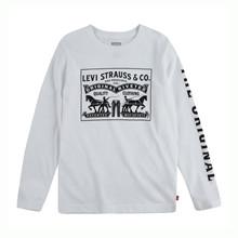 9EA103 Levis  T-shirt L/Æ HVID