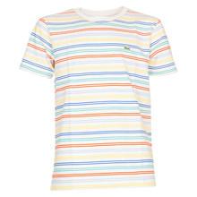 TJ4774 Lacoste Stribet T-shirt GRÅ