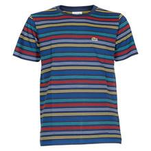 TJ4774 Lacoste Stribet T-shirt MARINE