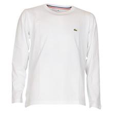 TJ2093 Lacoste t-shirt L/Æ basic HVID