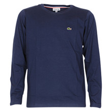 TJ2093 Lacoste t-shirt L/Æ basic MØRKEBLÅ