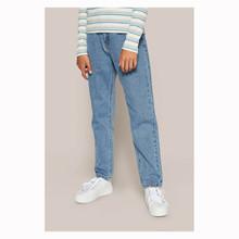 2033-506 Grunt Mom Jeans BLÅ