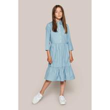 2113-083 Grunt Mia Long Denim Dress LYS BLÅ