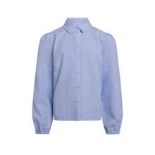 2113-751 Grunt Ora Check Skjorte  LYS BLÅ