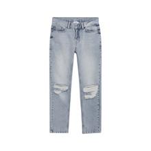 2144-100 Grunt Clint Rippede Jeans  LYS BLÅ
