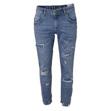 2210815 Hound Wide Jeans Trashed BLÅ