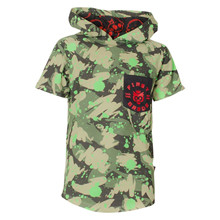 FirstGrade Monkey Hooded T-shirt ARMY