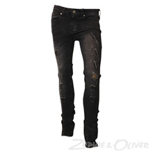 7170774 Hound PAINT Ripped jeans SORT