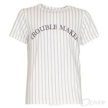 7170866 Hound T-shirt med striber Off white