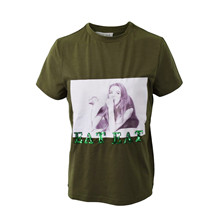7190753 Hound Picture Print T-shirt ARMY
