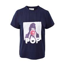 7190753 Hound Picture Print T-shirt MARINE