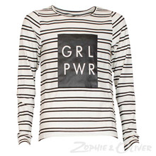 7170761 Hound t-shirt L/Æ Girlpower STRIBET