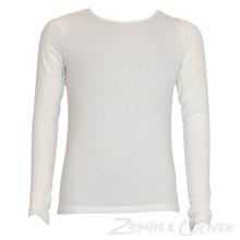 7170857 Hound Knit top w. crossback Off white
