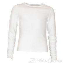 7171063 Hound T-shirt med Open back Off white