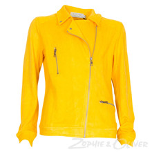 7180266 Hound Suede biker jacket GUL