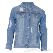 7180173 Hound Denim jakke ripped BLÅ