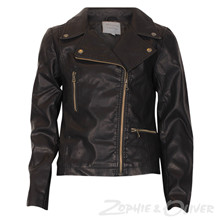 7180163 Hound Fake Leather Jacket SORT