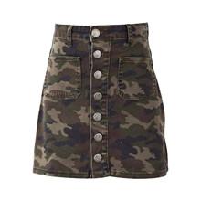 7190866 Hound Button Skirt  ARMY