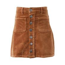7190866 Hound Button Skirt  BRUN
