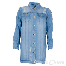 4302671 D-xel Yusi 671 Denim jacket BLÅ