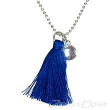 NK097 Højtryk Tassel necklace BLÅ