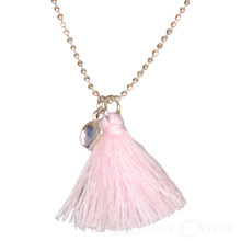 NK097 Højtryk Tassel necklace LYS RØD