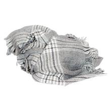 SC051 Højtryk Ternet Tørklæde SORT