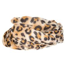 SC052 Højtryk Leopard Tørklæde BRUN