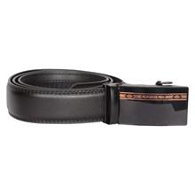 BT020 Højtryk RoseGold Leather Belt SORT