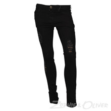 2691 Queenz Ripped Jeans SORT