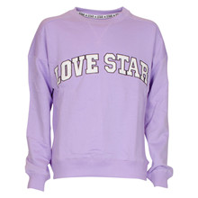 1-3080 Queenz Love Star Sweatshirt LILLA