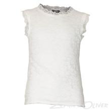2899 Queenz Blonde t-shirt U/ærmer HVID
