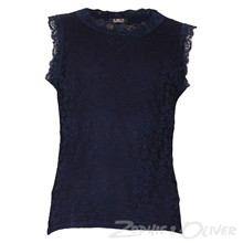 2899 Queenz Blonde t-shirt U/ærmer MARINE
