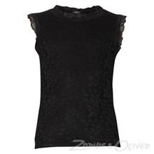 2899 Queenz Blonde t-shirt U/ærmer SORT