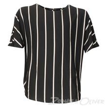 2943 Queenz Stribet wing t-shirt SORT
