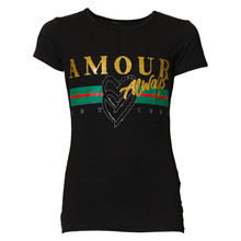 1-3056 Queenz L'amour T-shirt SORT
