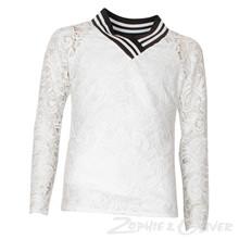 2864 Queenz Blonde bluse m/V HVID