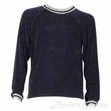 2994 Queenz Lurex t-shirt MARINE
