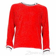 2994 Queenz Lurex t-shirt RØD