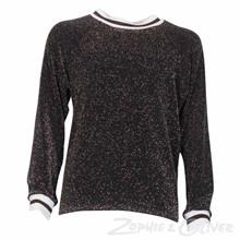 2994 Queenz Lurex t-shirt SORT