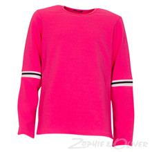 3021 Queenz Bluse med trim PINK