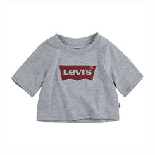 4E0220 Levis Crop Top T-shirt GRÅ