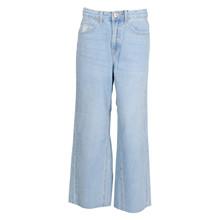 1913-411 Grunt Wide Leg Crop Jeans LYS BLÅ
