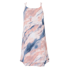 2023-115 Grunt Annika Tie Dye Dress LYS RØD