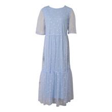 7210156 Hound Long Mesh Dress LYS BLÅ
