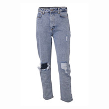 7210351 Hound Ribbed Mom Jeans LYS BLÅ
