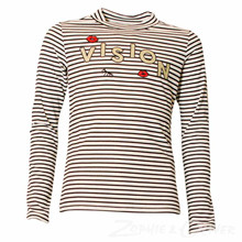 172404 T-shirt L/Æ  STRIBET