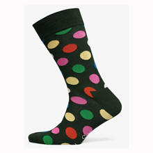 BDO01 Happy Socks Big Dot  Sock GRØN
