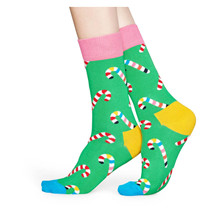 CCA01 Happy Socks Candy Cane Sock GRØN