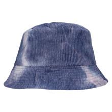 HT087 Højtryk Tie Dye Fløjls Hat BLÅ
